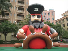 Custom cool design 6mH inflatable pirate