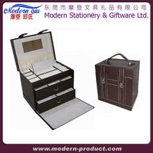 cheap leather makeup organizer box