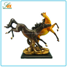 China Cheap Hot Sell Resin Black And Red Horse Sculpture