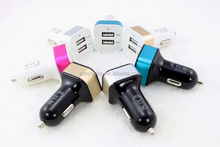 2.1A Portable two usb 12v car charger for cell phone