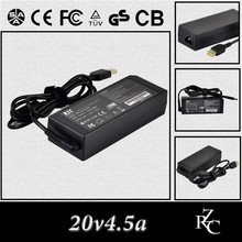 20v4.5a 90w high quality travel ac/dc laptop adapter