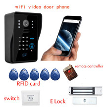 FDL-WFK12 home automation gateway both smart phone and inhouse door ring wireless with electronic lock and RFID card