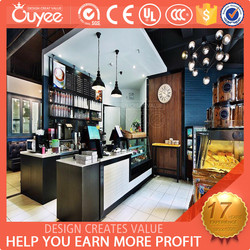 2015 high quality customized food showcase for hot sales