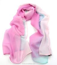 Ready Made Shawl For Girl Spring Autumn Scarf Hjab Chiffon Silk Scarf Bound