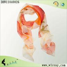 Fashion Summer Lotus Design Silk Scarf 2012