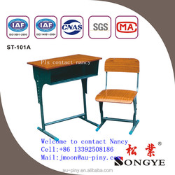 Laminate Single Desk and Chair, Competitive Standard Classroom Desk and Chair