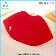 Brand Sexy Silicon Case For iPhone 6 Soft Lips Design Mobile Rubber Case