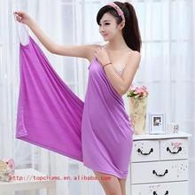 Yiwu commodities Absorbent Microfiber Bath Beach Towel Drying Washcloth Swimwear Shower 70x140cm