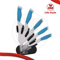 WMM famous kitchen knife brands 6pcs ceramic knife set with cheese knife