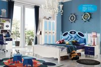 2015 Latest design kids bed space saving Teenagers bed princess style bedroom furniture