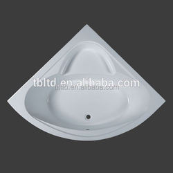 corner best-seller black acrylic bathtub passed CE and ISO9001
