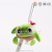 Cute small key decorations mini size stuffed plush animal shaped keychain toys