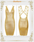 Ouro vestido bandage, as mulheres mais recente 2014 atacado sexy vestido bandage
