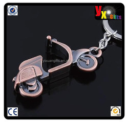 The simulation model motorcycle key chain Creative birthday gifts/custom metal keychain