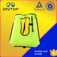 210 Denier Nylon TPU Coating Snorkel Adult Inflatable Surfing Life Vest