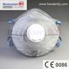 FFP2 disposable dust masks with Active carbon and exhalation valve
