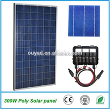 Best quality poly silicon 150watt solar system with 250W polycrystalline price per watt solar panels For Home Use