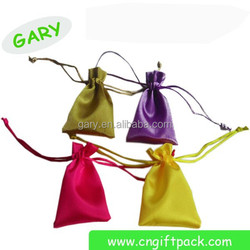 Best selling custom fashion satin pouch with logo printing