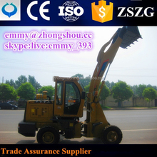 ZL20 mini wheel loader earth moving with joystick and quickhitch