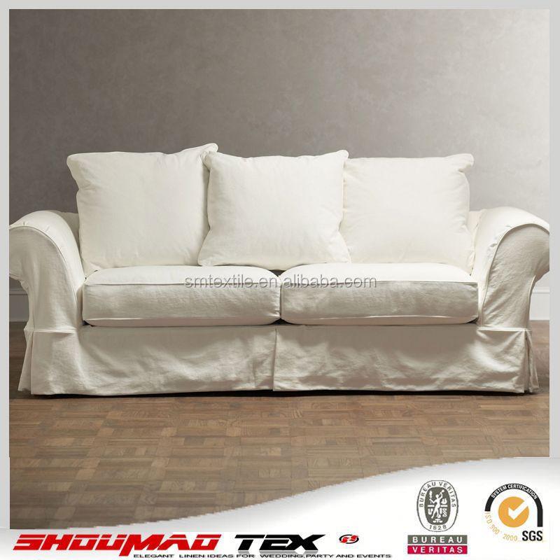 China manufacturer elegant natural linen sofa cover buy for Linen furniture covers