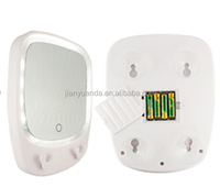 LED bathroom mirror with hanger for razor / Battery operated fogless LED shaving mirror with touch sensor switch