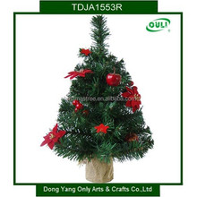 HOT! Mini Deco Artificial Small Christmas Trees with Flower and Berry