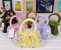 Korea style embroid lace tote bag for kids