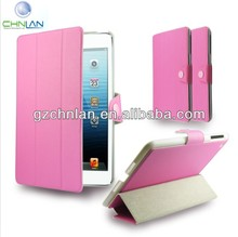 smart cover leather case stand for ipad mini