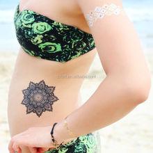 Gold Foil Tattoo ,Stencil Tattoo Sticker,Tattoo Glitter