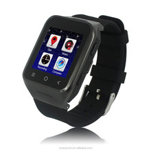 Factory price 3G Android4.4 fashionable watch phone dual sim 3g, new model watch mobile phone, android hand watch mobile phone
