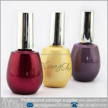 yellow spherical 15ml soak off UV gel polish bottle /container