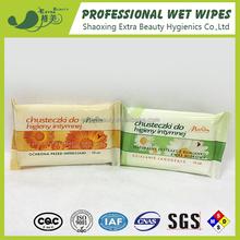 Intimate wet wipes feminine clean wet tissue