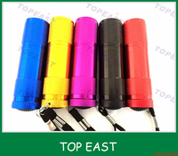 Wholesale hot selling 9 Led mini flashlight led torch with logo for promotional gift cheaper price
