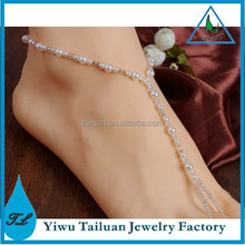 2015 New pearl wedding barefoot sandals