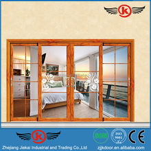 JK-AW9168 China aluminum alloy balcony double sliding screen doors design