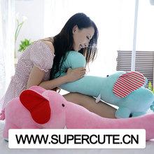 venta al por mayor de diseño creativo grande y suave nariz larga costumbre elefante de juguete de felpa