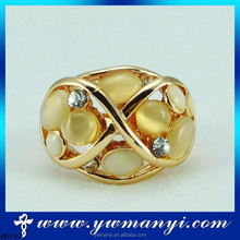 2015 New Design DIY Charm Beautiful and high quality jewelry orange gemstone ring for women