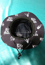 high quality custom bucket hat with string and stopper,digital print LOGO hat
