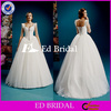 ST721 2015 Western Europe Style Traditional 3/4 Sleeve Square Back Light Tulle Ball Gown Wedding Dress