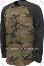 Sublimation printing Camo Raglan L/S T-Shirt clothing manufacturer