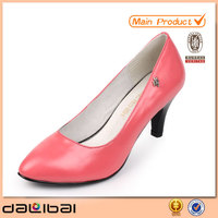 2014 name brand elegant thick high heel red and black women dress shoes