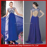 OC-2277 Flowing dubai designers wholesale evening dresses lebanese designers sexy bare back evening dress