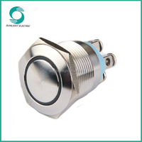 19mm illuminated momentary screw terminal with round head 1no high quality waterproof metal 2a waterproof push button switch