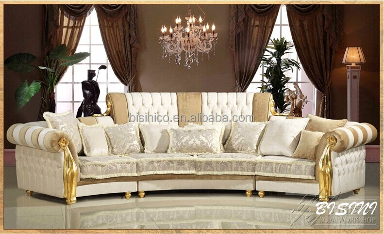 English romantic furniture bright color classic sectional for Sofa royal classic