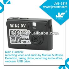 JVE-3319 8GB Motion Detection 1280*960 Mini security recorder /web cam dvr /motion detection dv mini