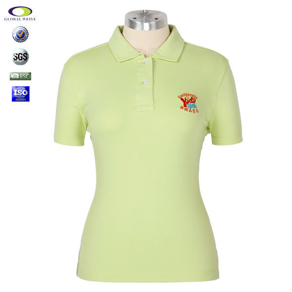 Wholesale unbranded for women polo shirts customized logo for Embroidered polo shirts cheap