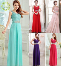 New Bridesmaid Formal Gown Ball Party Cocktail Evening Prom Long Chiffon lace Dress lady/womens clothing summer 2015 guangzhou