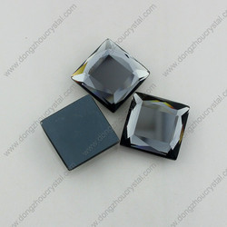 DZ-1028 high quality square shape flat glass stones for dresses