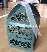2014 new product! elegant wholesale wedding giveaways candy and favor box from China manufacturer!