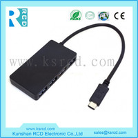 Wholesale ultra-thin reversible 3.1 type c usb hub 3.0 4ports for Macbook Pro Air